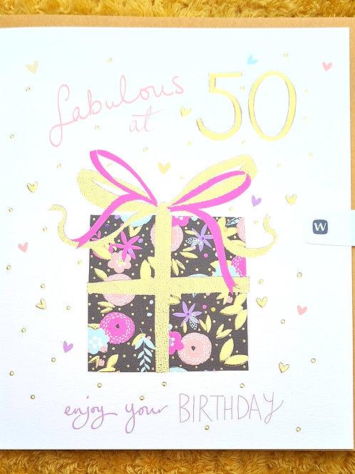 50th Birthday Card