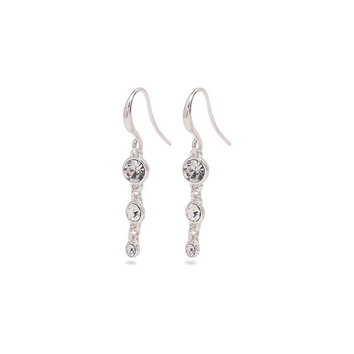 Pilgrim Lucia earrings available in silver or rose gold plating.