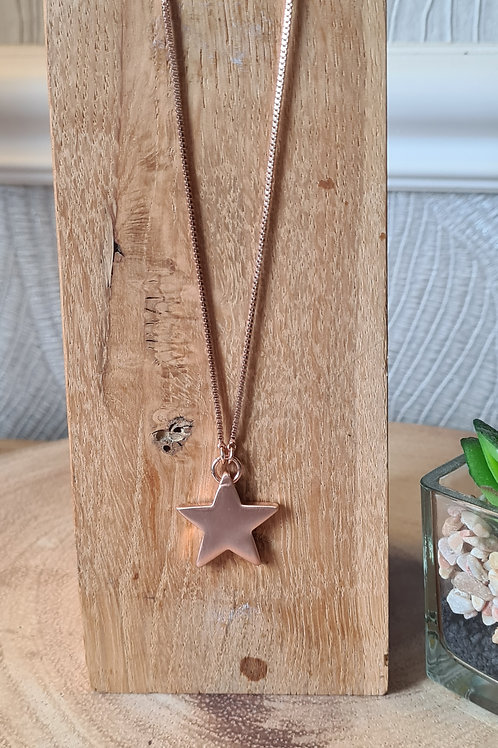 Ava extendable rose gold plated necklace