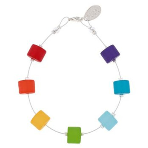 Frosted rainbow bracelet. (Matching necklace and earrings available if in stock)