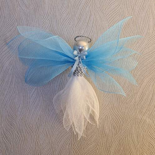 mesh angel blue white