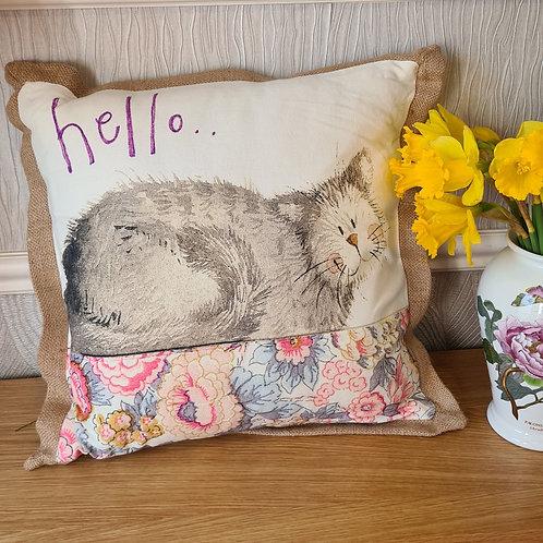 Hello Cat Cushion