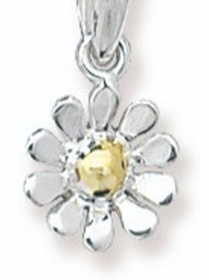 Sterling silver daisy necklace.
