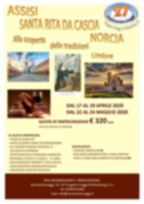 ASSISI, S.RITA DA CASCIA, NORCIA 2020_pa