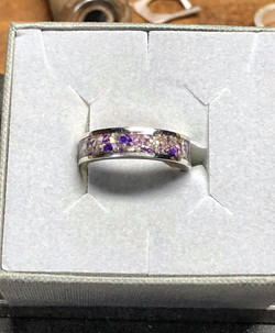 Hint of Purple Ashes Rings
