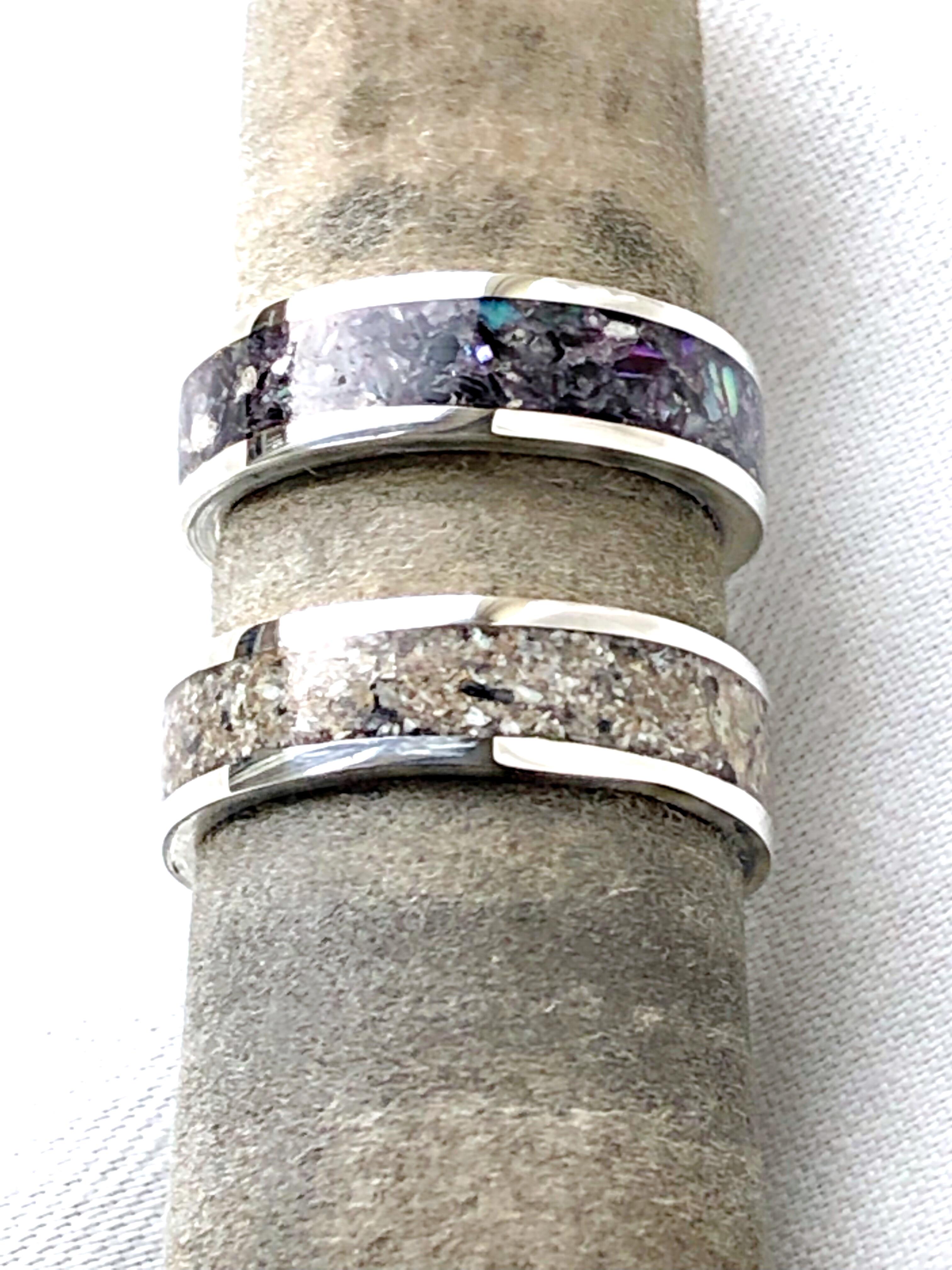 Natural (No Colour) Ashes Rings