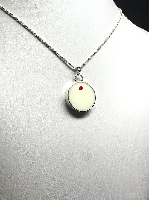 Round Breast Milk Birthstone Pendant