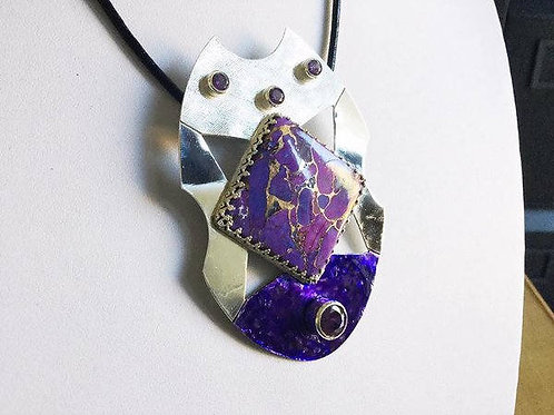 Purple Copper Mojave Turquoise Pendant (Large)