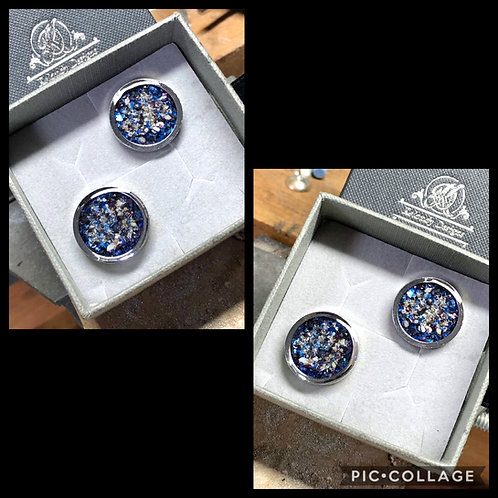 Cremation Ashes Memorial Cufflinks
