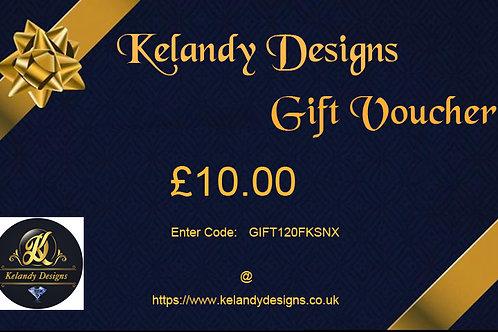 GIFT VOUCHER - Kelandy Designs £10 - £250