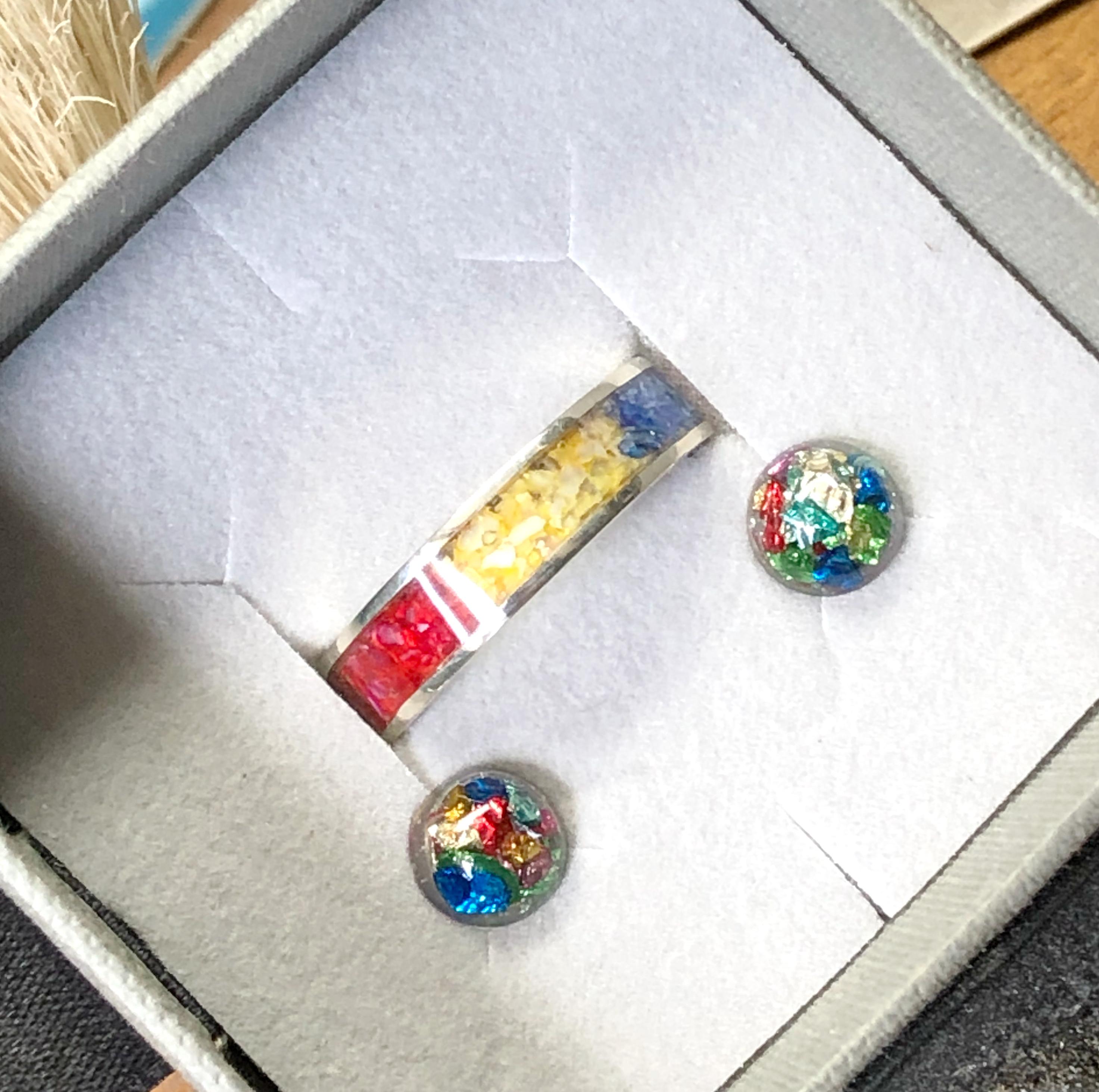 Rainbow Inlay Rings