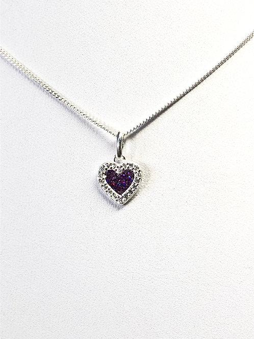 Memorial Crystal Heart Pendant Necklace