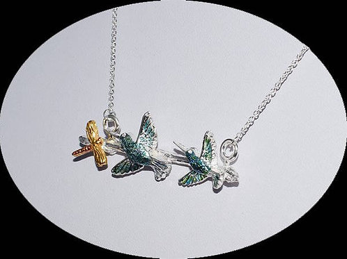 The Kingfishers Fine Silver 24 Carat Gold Plated