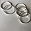 Thumbnail: Sterling Silver Stacking Rings, Bead, Diamond Cut and Hammered Finish