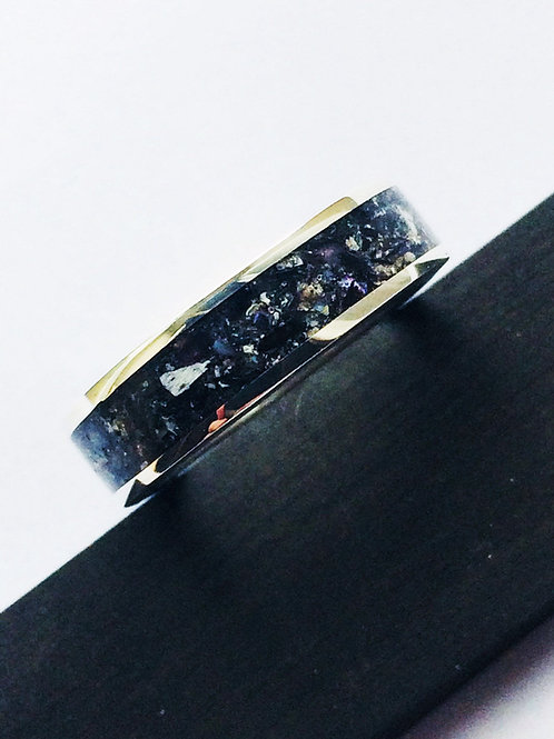 Beautiful Sterling Silver Inlaid with Cremation Ashes