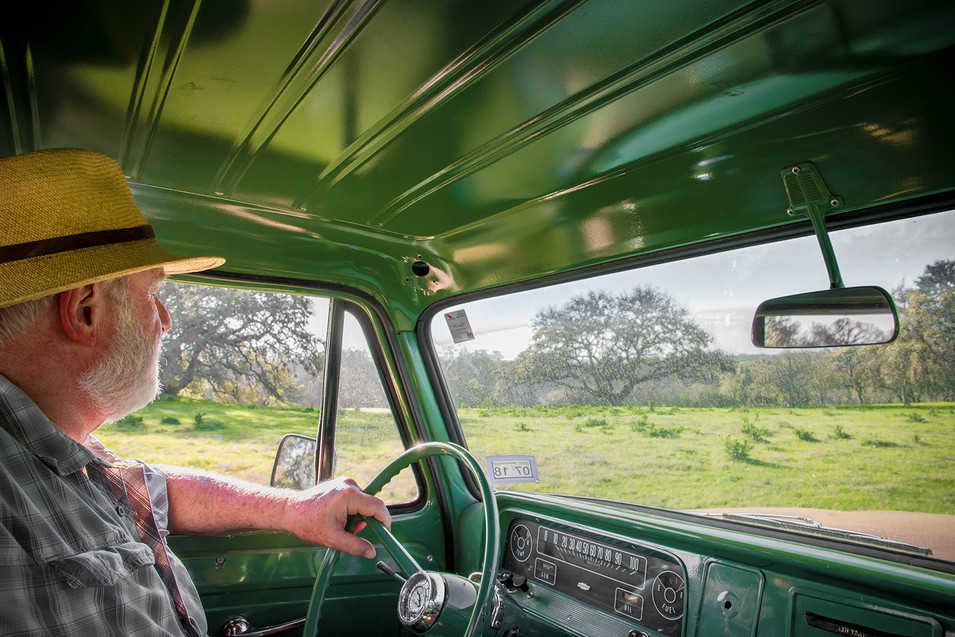 Dad in the old Ford