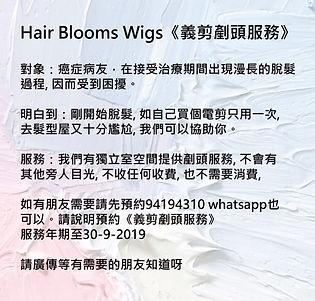 Hair Blooms Wigs | 義剪剷頭服務 | 電療化療 | 癌症脫髮