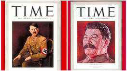 """Just a quick reminder that Adolf Hitler, and Joseph Stalin were both TIME's """"Person of the year."""""""