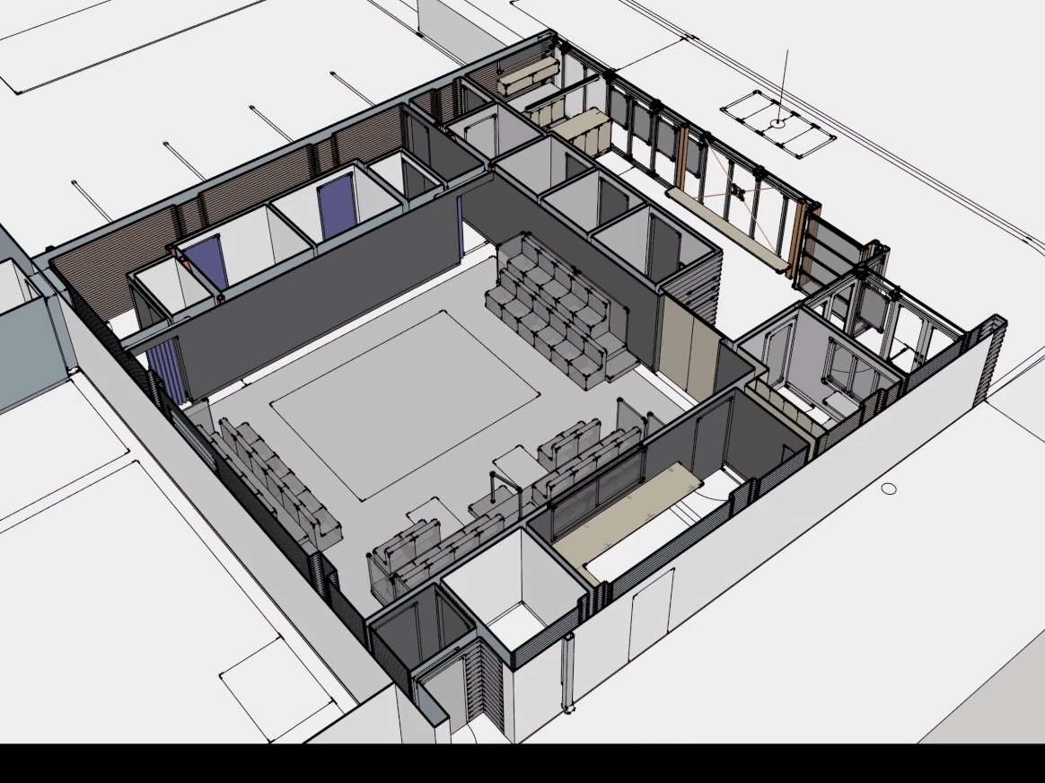 Off Broadway stage/house