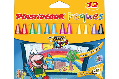 ESTUCHE PLASTIDECOR PEQUES DE 12