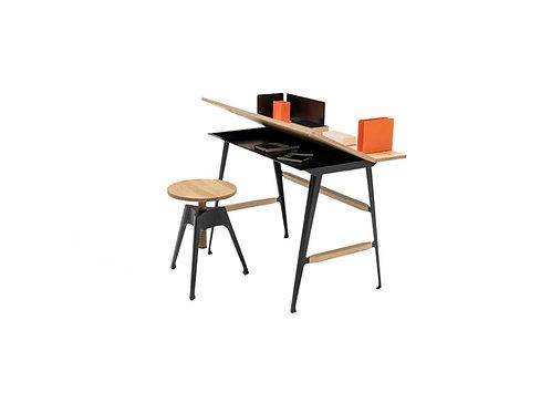 Driade moleskine desk and stool