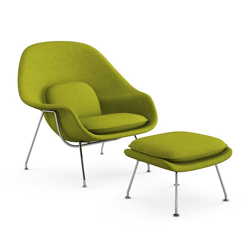 Knoll womb chair with stool