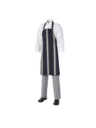 Bib Apron Bratting/Butchers Stripe No Pocket