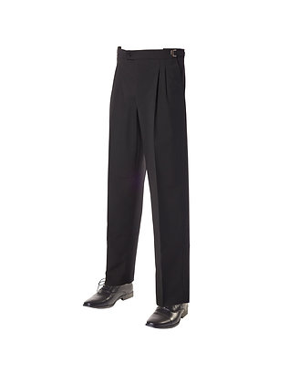 Men's Fitted Wool Blend Trousers