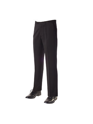Mens Black Fitted Trousers