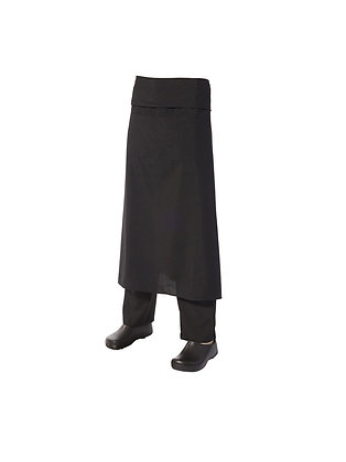 Long Apron with Pocket and Flap