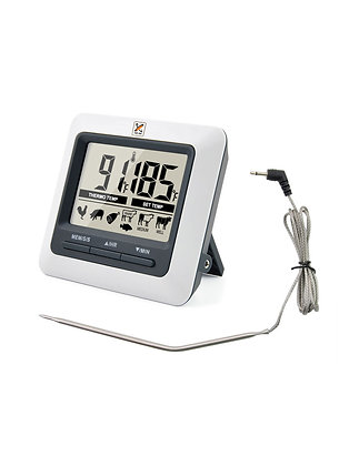 Bench Top Digital Food Thermometer with External Probe by Club Chef