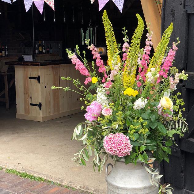 Wonderful floristry by Rosie Orr