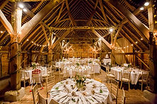 Gildings barn interior white table layou