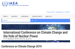Int'l Conference on Climate Change and the Role of Nuclear Power