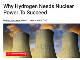 Why Hydrogen Needs Nuclear Power To Succeed