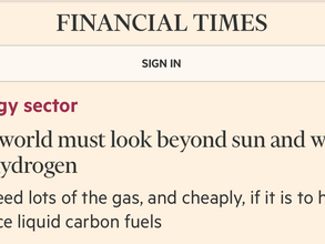The world must look beyond sun and wind for hydrogen