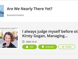 Podcast interview with Kirsty Gogan: I always judge myself before others!