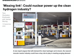 """""""Missing Link': Could nuclear power up the clean hydrogen industry?"""