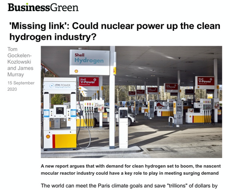 """Missing Link': Could nuclear power up the clean hydrogen industry?"