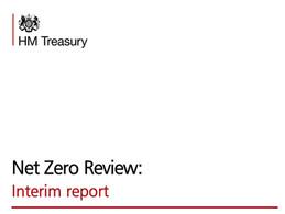 ETI NCD Study cited in the UK's HM Treasury NetZero Interim report