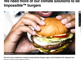 We need more of our climate solutions to be Impossible™ burgers