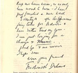 Delius letter