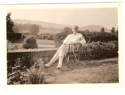Norman O'Neill on the terrace at Losely
