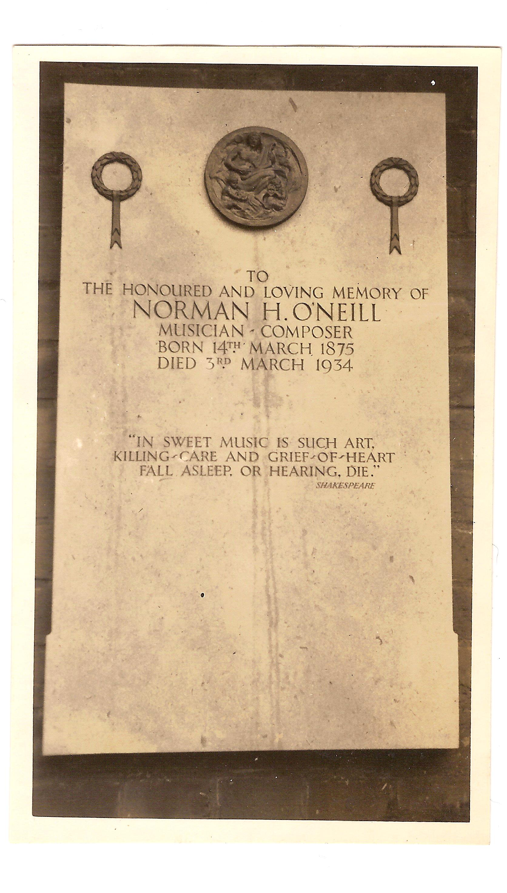 Norman O'Neill's Memorial Golders Green Crematorium