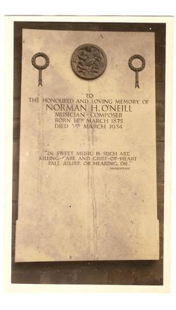 Norman O'Neill's Memorial Golders Green Crematorium