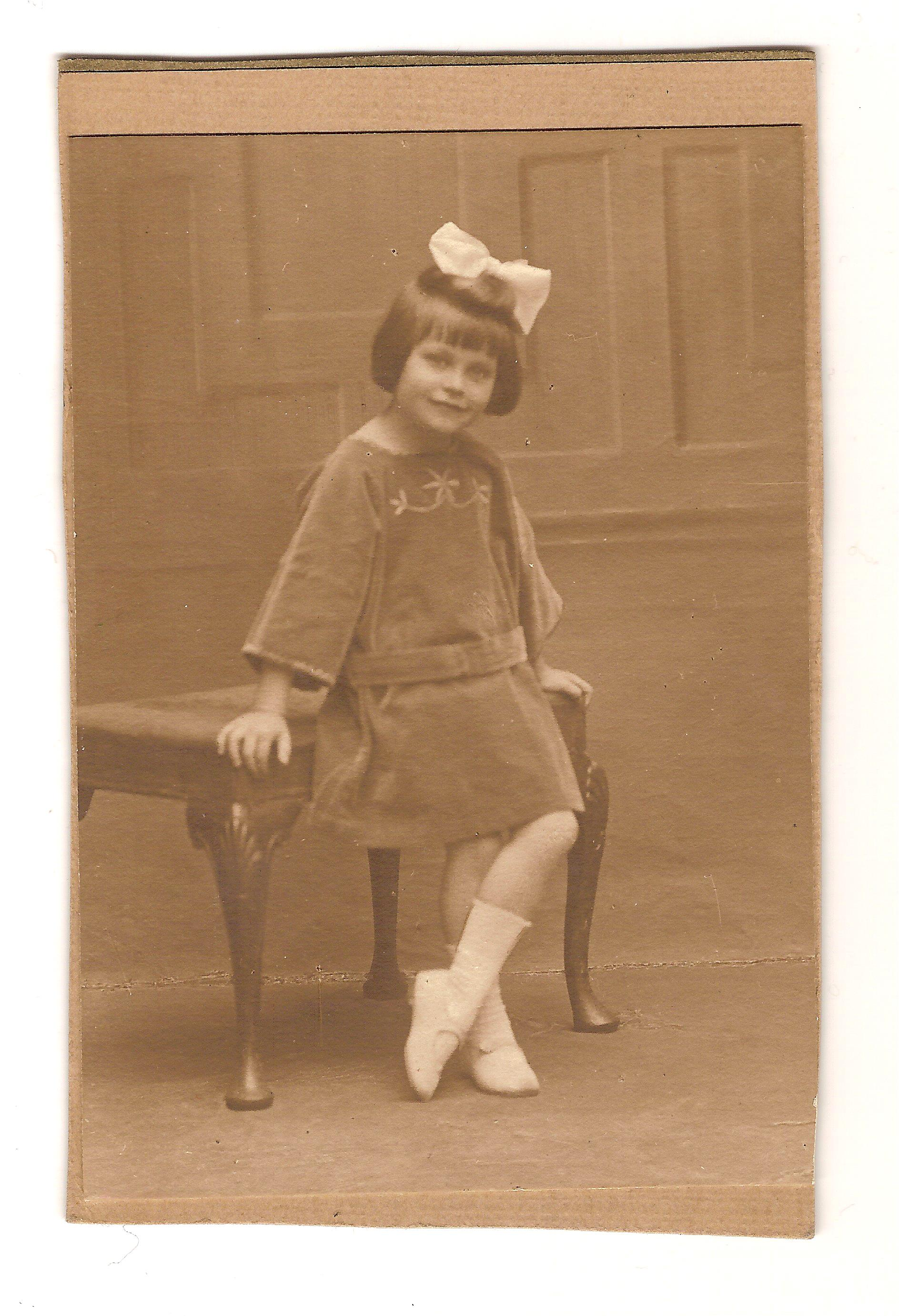 Yvonne O'Neill, aged 4 years