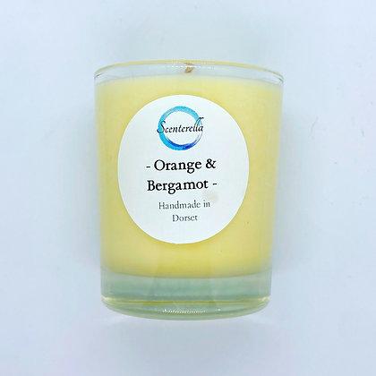 Orange & Bergamot Votive Candle Jar