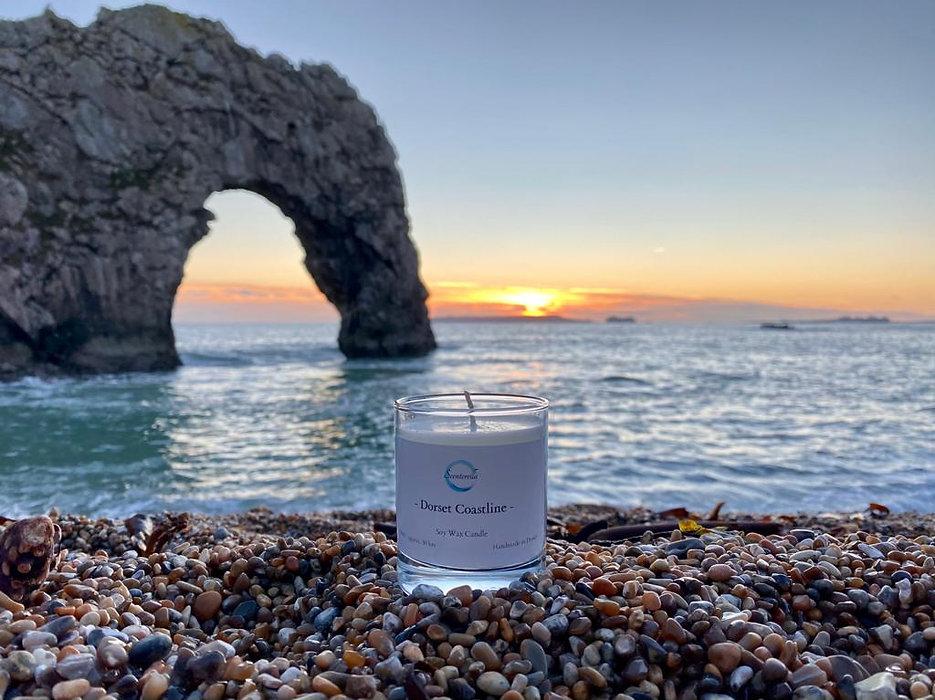 Dorset Coastline Candle at Durdle Door