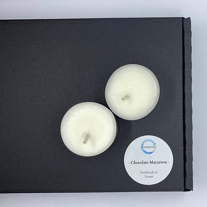Chocolate Macaroon Scented Tealights (Box of 12)
