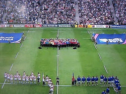 Singing at Rugby World Cup 2015